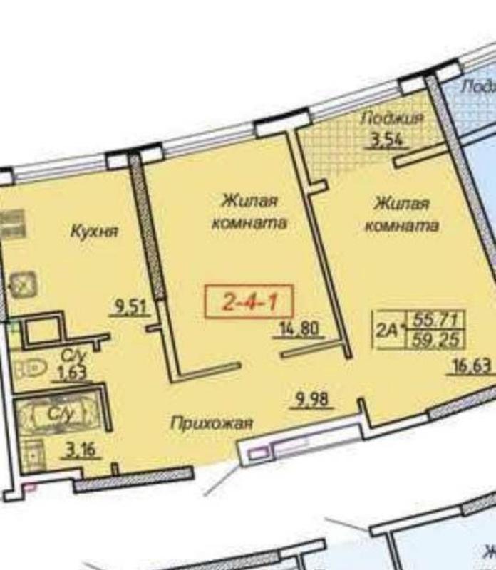 2-х комнатная квартира в 27 Жемчужине