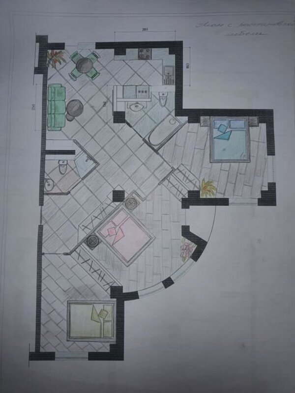 3 комнатная квартира в ЖК Акапулько