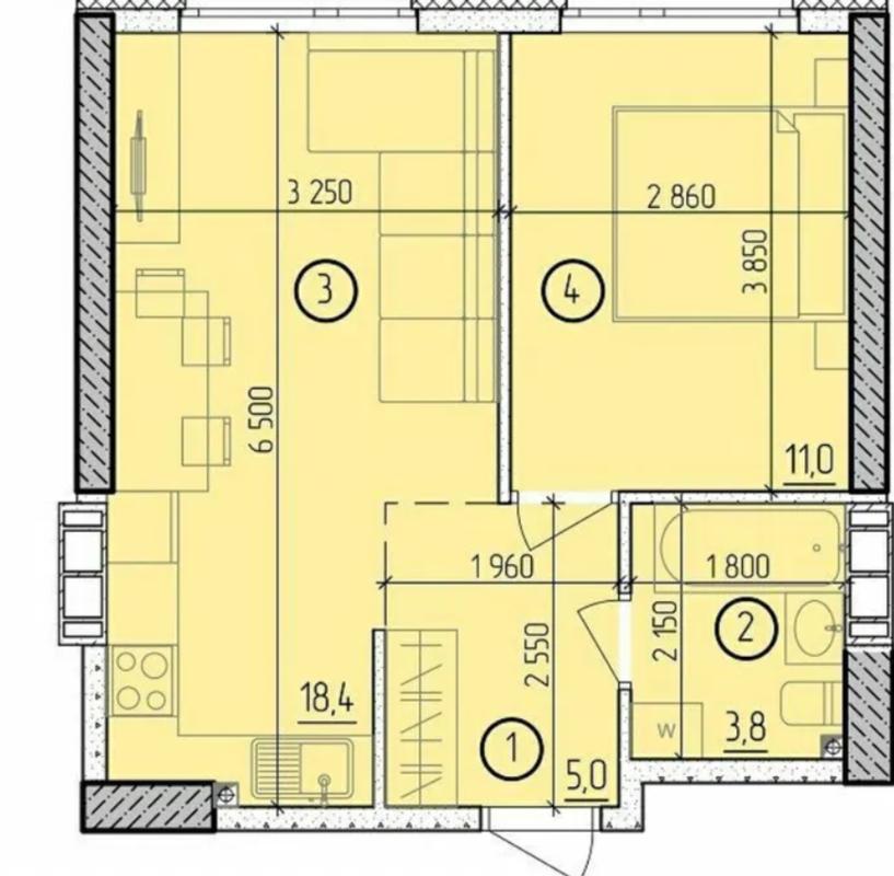 1 комнатная квартира на Академика Филатова