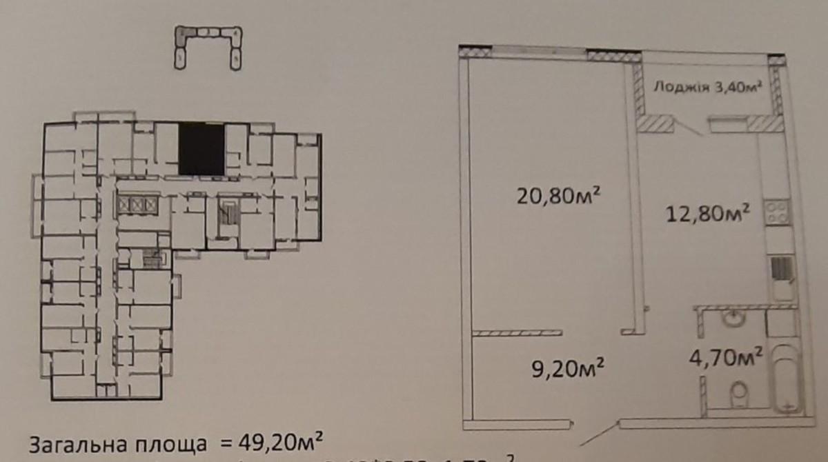 1 комнатная квартира в ЖК Оскар