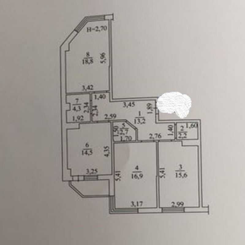 3-комнатная квартира в ЖК Реал Парк