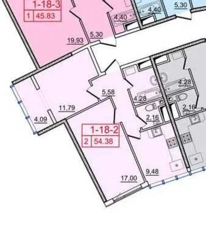 2 комнатная квартира на Генуэзской