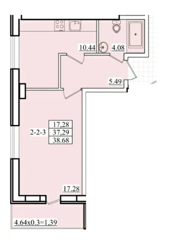 1-комнатная квартира в ЖК Platinum Residence