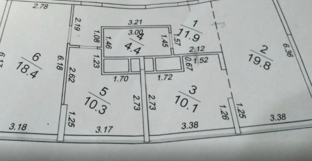 3-комнатная квартира в 43 Жемчужине