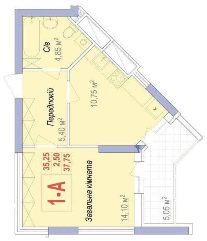 Однокомнатная квартира в ЖК Аврора