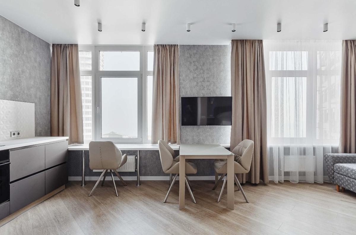1-комнатная квартира с ремонтом на Каманина