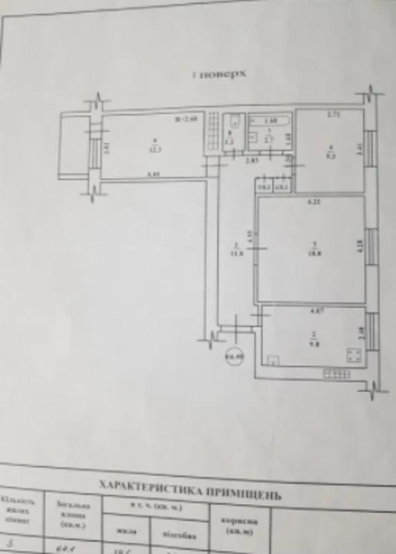 3 комнатная квартира на Маршала Жукова