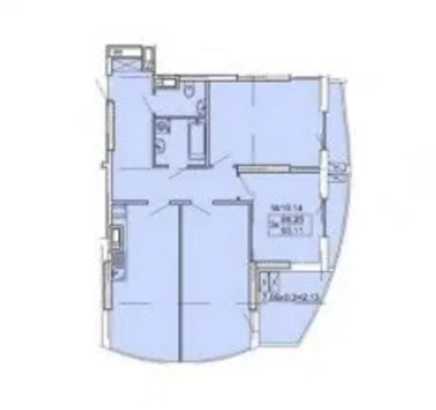 3 комнатная квартира на Фонтане в ЖК Корфу