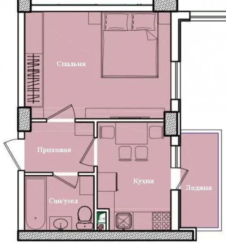 1 комнатная квартира в ЖК Восход на Глушко/ Королева