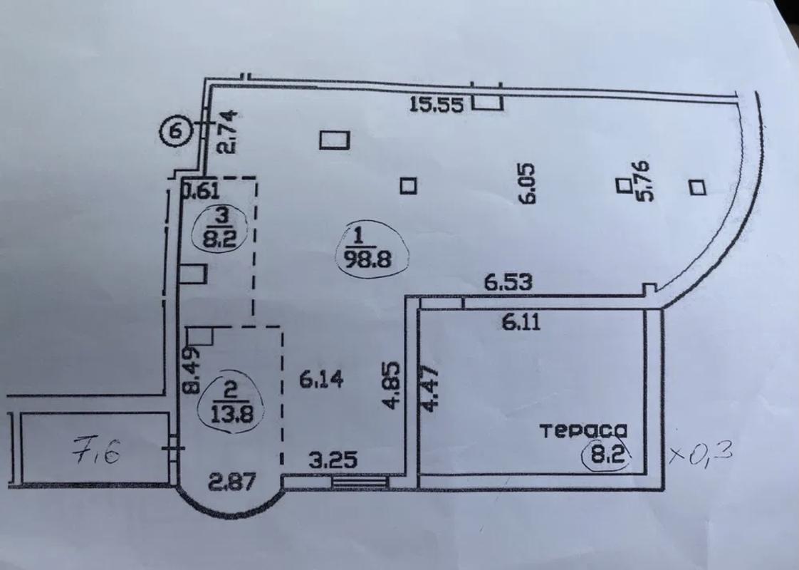 3-комнатная квартира в ЖК Аквамарин
