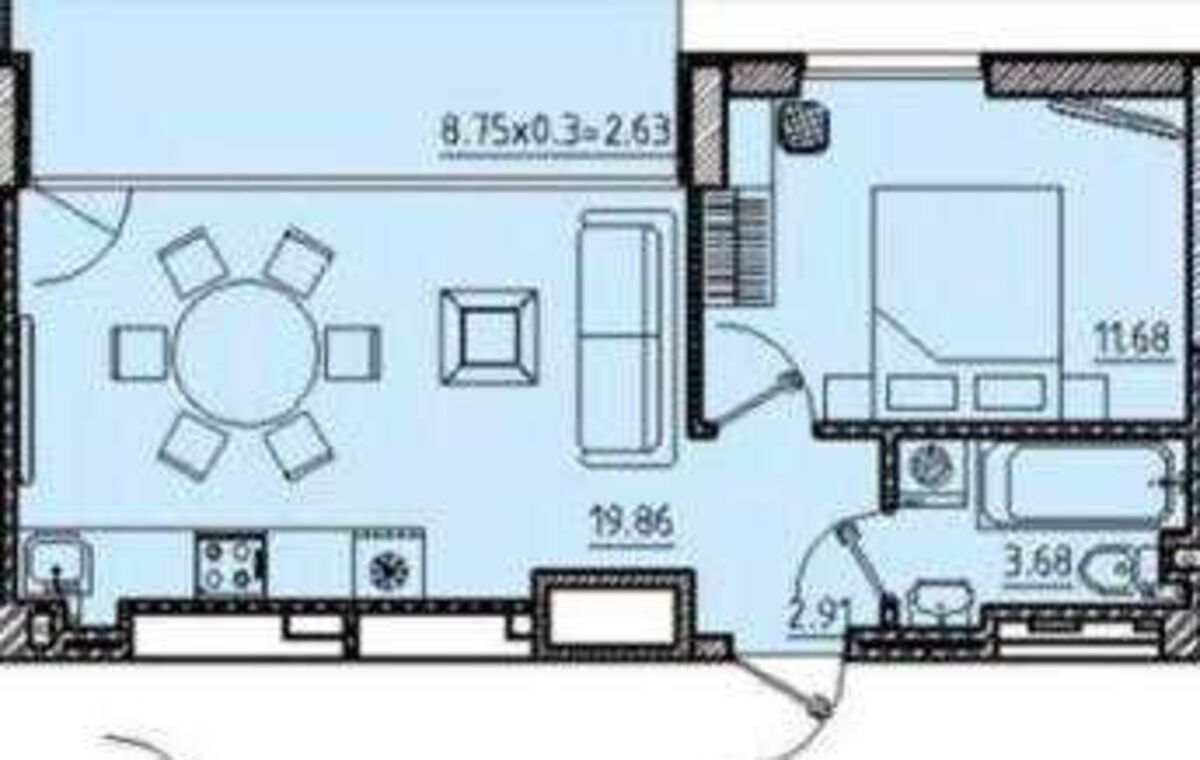 1 комнатная квартира на ул. Неделина