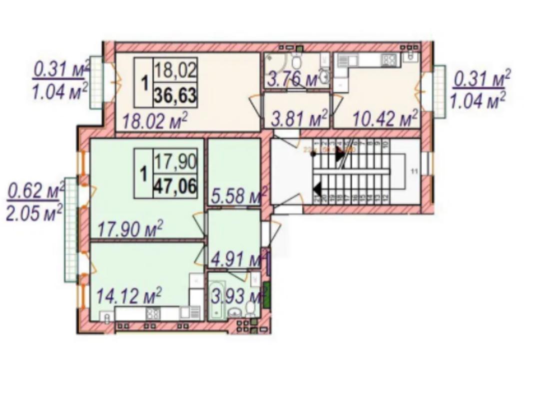3 комнатная квартира в ЖК Челси