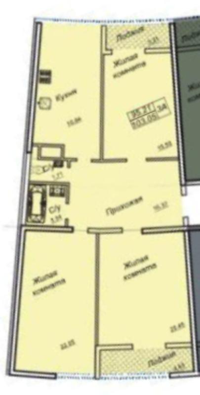 4 комнатная квартира с видом на море в 26 Жемчужине