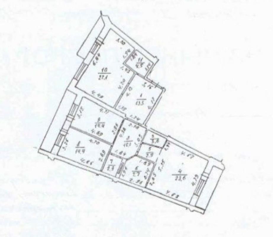 3 комнатная квартира на 6,5 ст Большого Фонтана