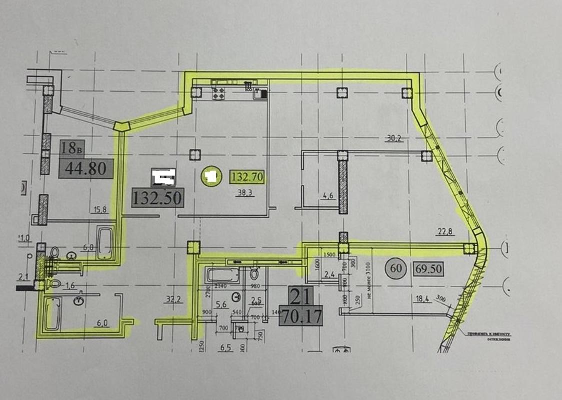 Квартира 133 м2 в ЖК Париж