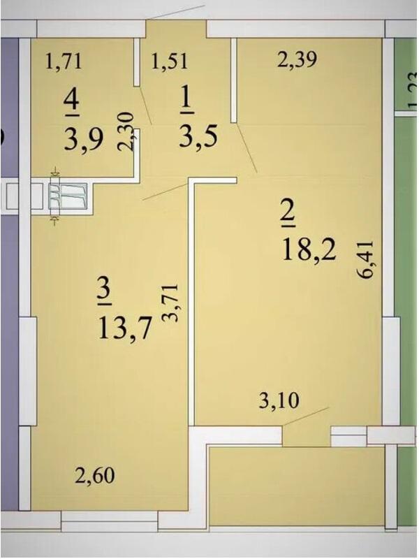 1-комнатная квартира в ЖК Лотос