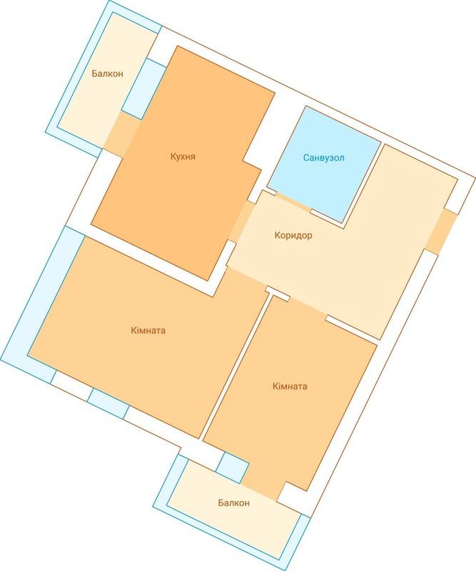 2х комнатная квартира в ЖК Экосити/Пространство на Радостной