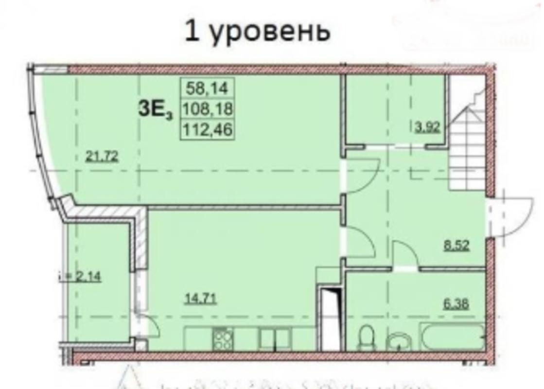 3 комнатная квартира в ЖК Гагаринский