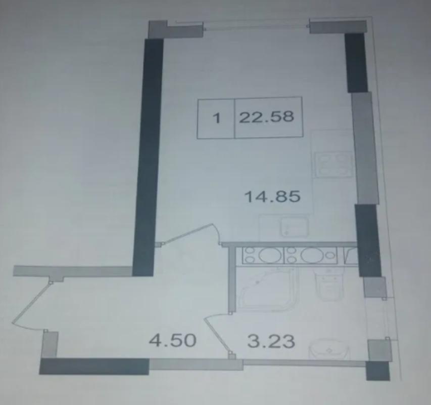 Квартира-студия в ЖК Артвиль