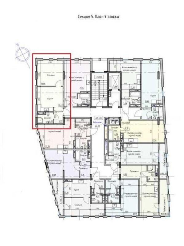 1-комнатная квартира в ЖК Пространство на Раскидайловской