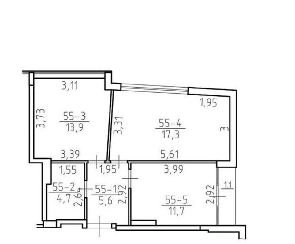 2-комнатная квартира с прямым видом моря Аркадии в малоквартирном сданом доме