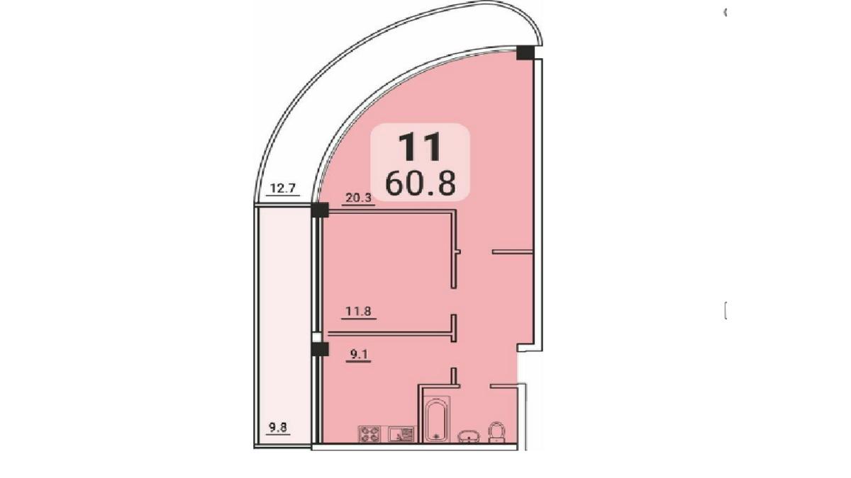 2-комнатная квартира в новом ЖК Море на Львовской