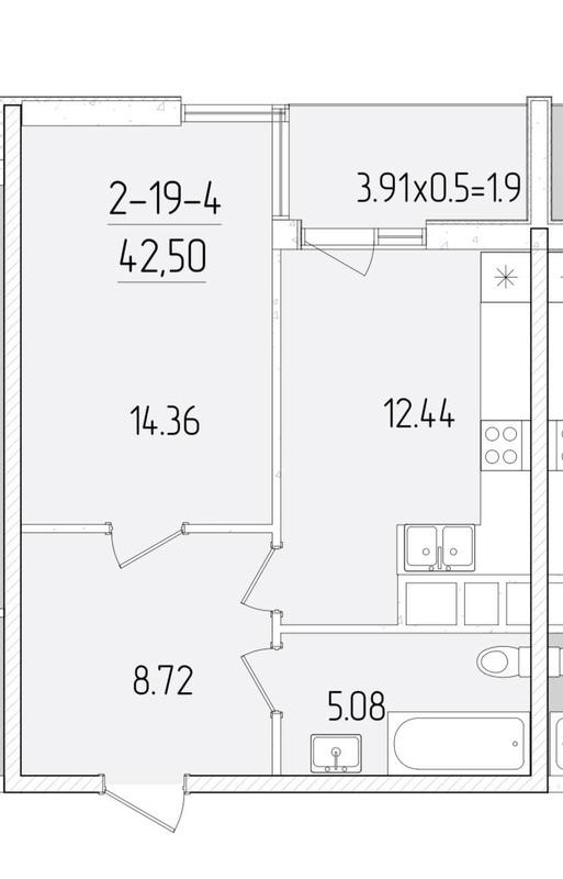 Видовая 1-комнатная квартира в 60 Жемчужине.