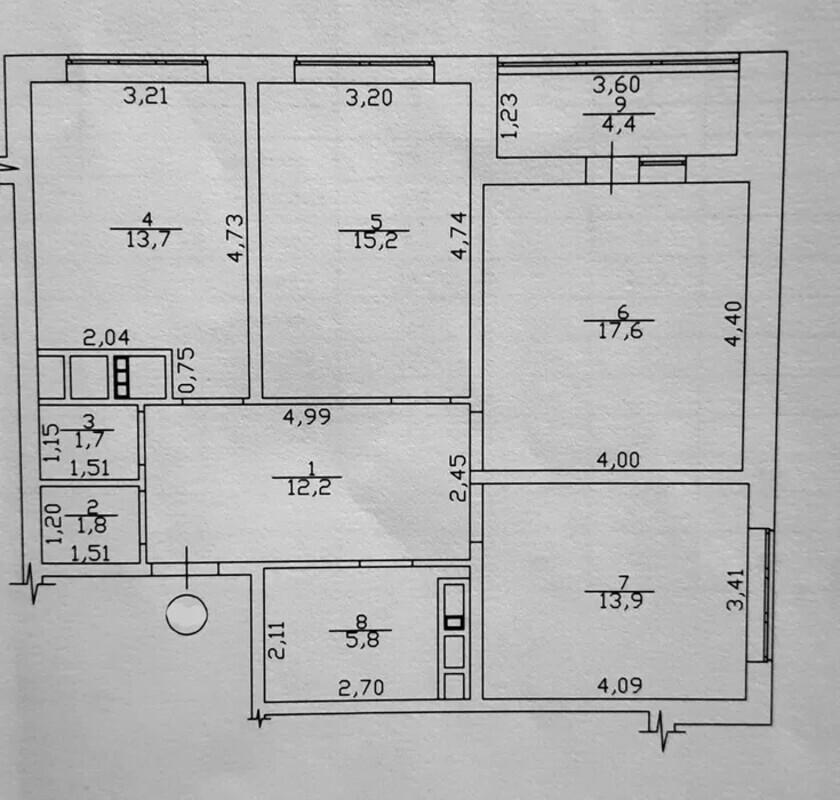 3 комнатная квартира в ЖК Горизонт