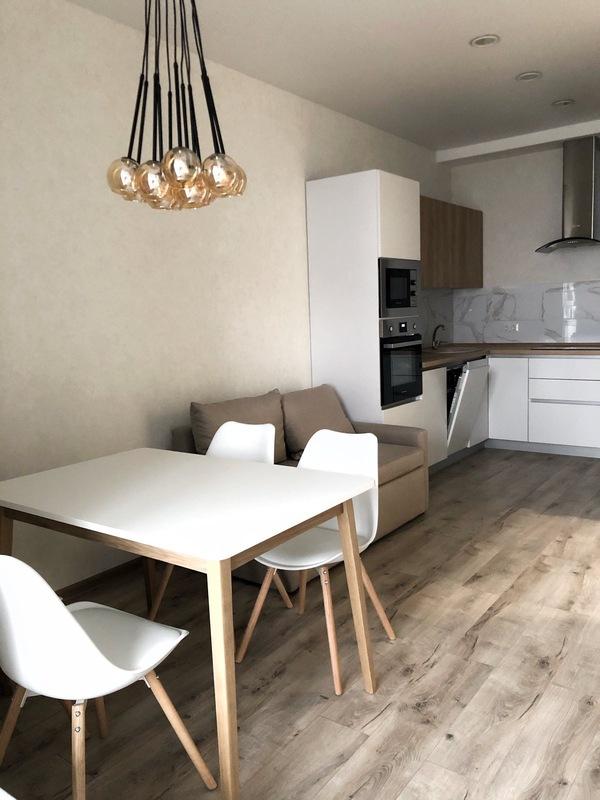 Кухня-студия и спальня ЖК Омега