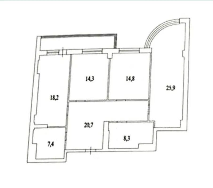 3 комнатная квартира в ЖК Армейский/ Парк Победы.