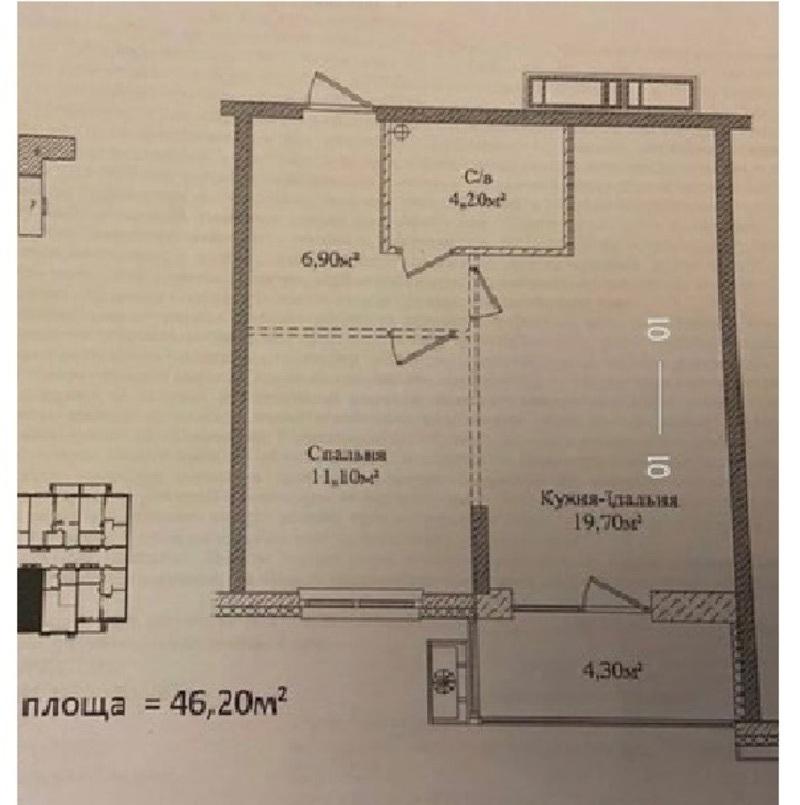 1-комнатная квартира в ЖК Скай Сити Плюс