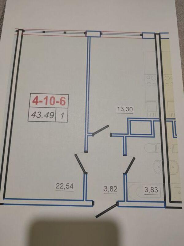 1 комнатная квартира в 53 Жемчужине
