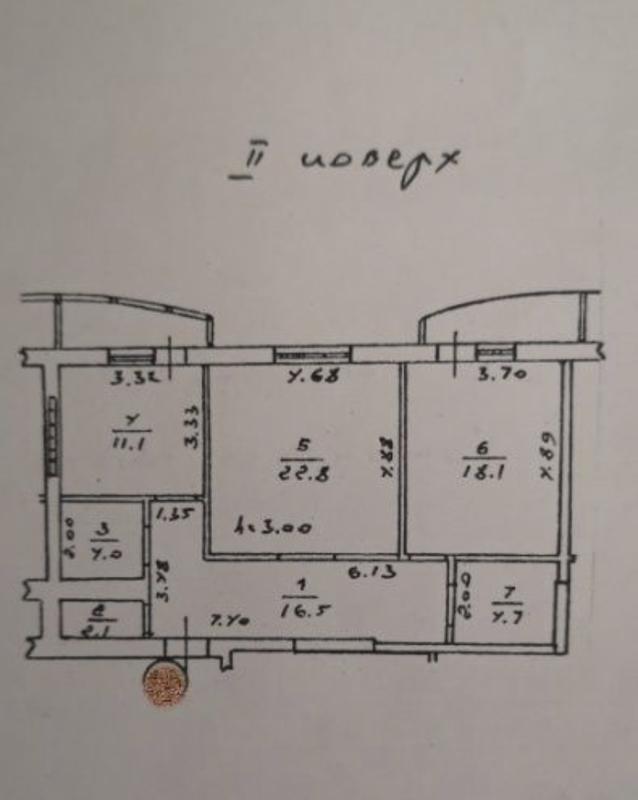 2 комнатная квартира на Фонтане