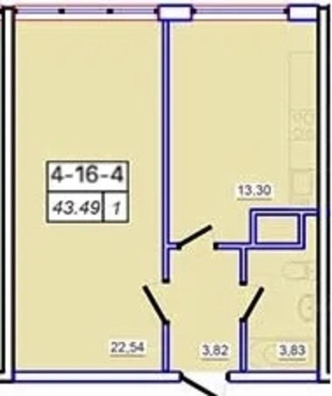 1-комнатная квартира в ЖК 53 Жемчужина