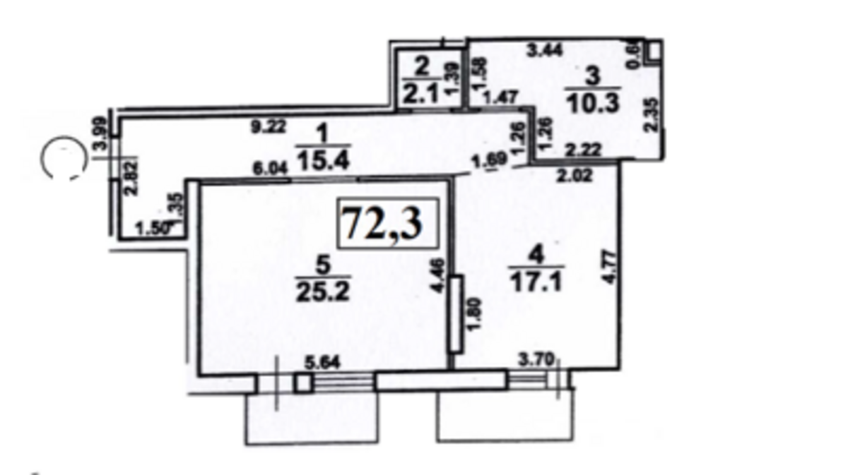 1-комнатная квартира в Ясной Поляне 1, Французский бульвар