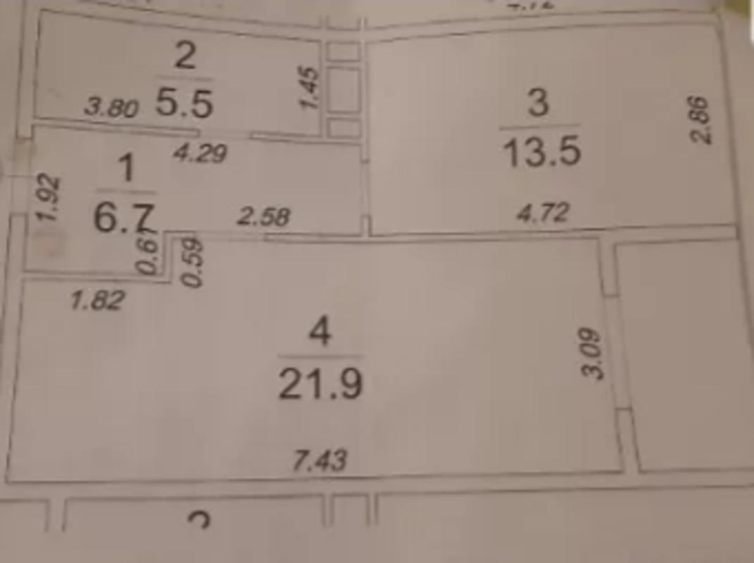 1 комнатная квартира в 5 Жемчужине