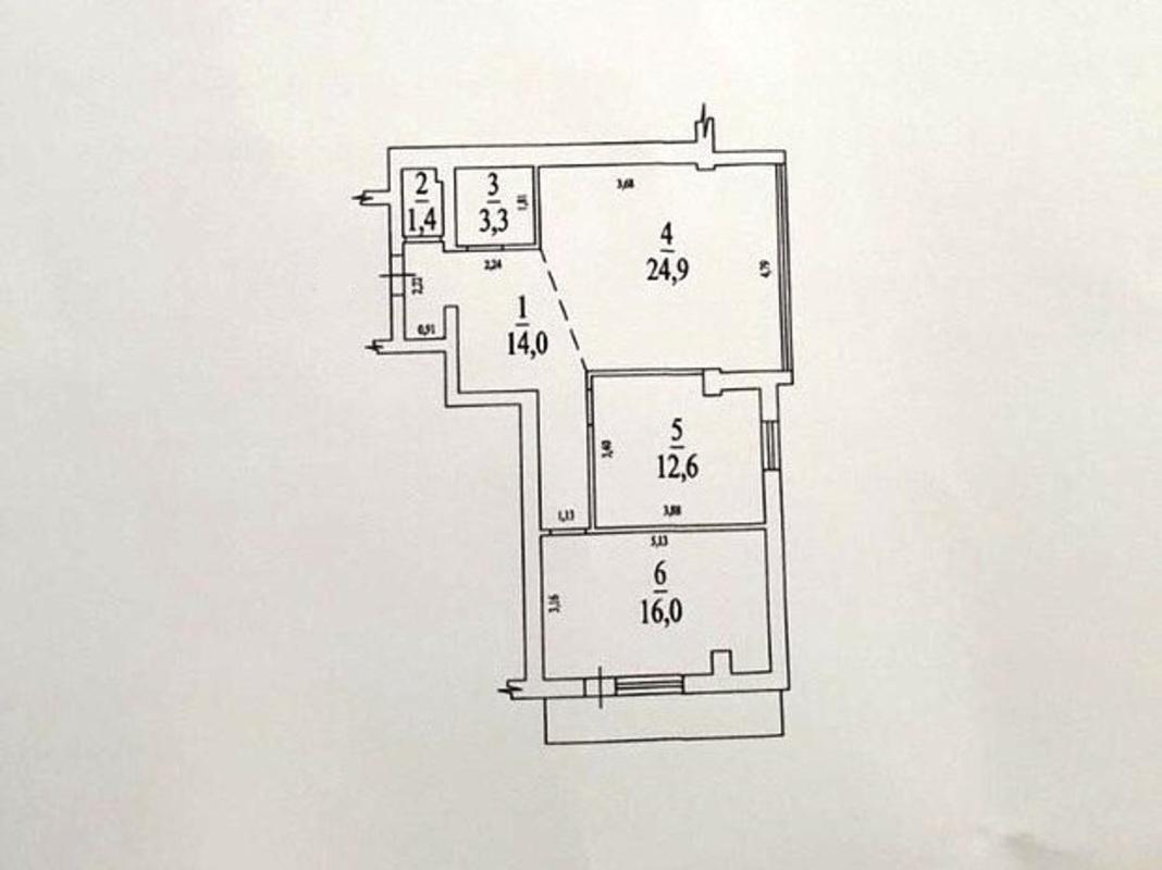 2 комнатная квартира на Пишоновской