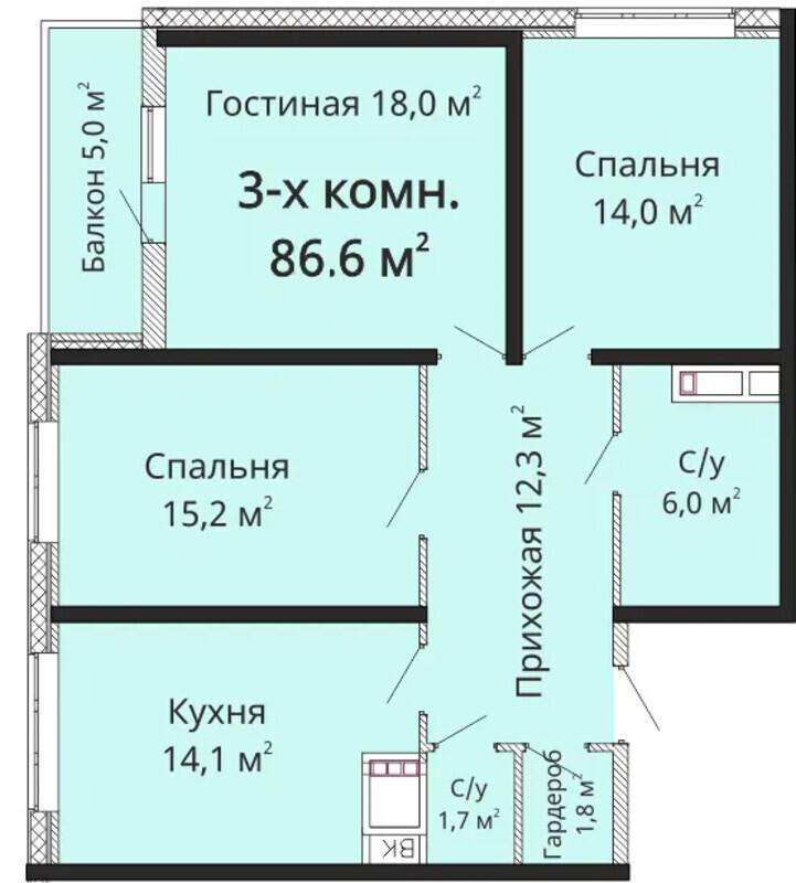 3 комнатная квартира на Фонтане ЖК Горизонт