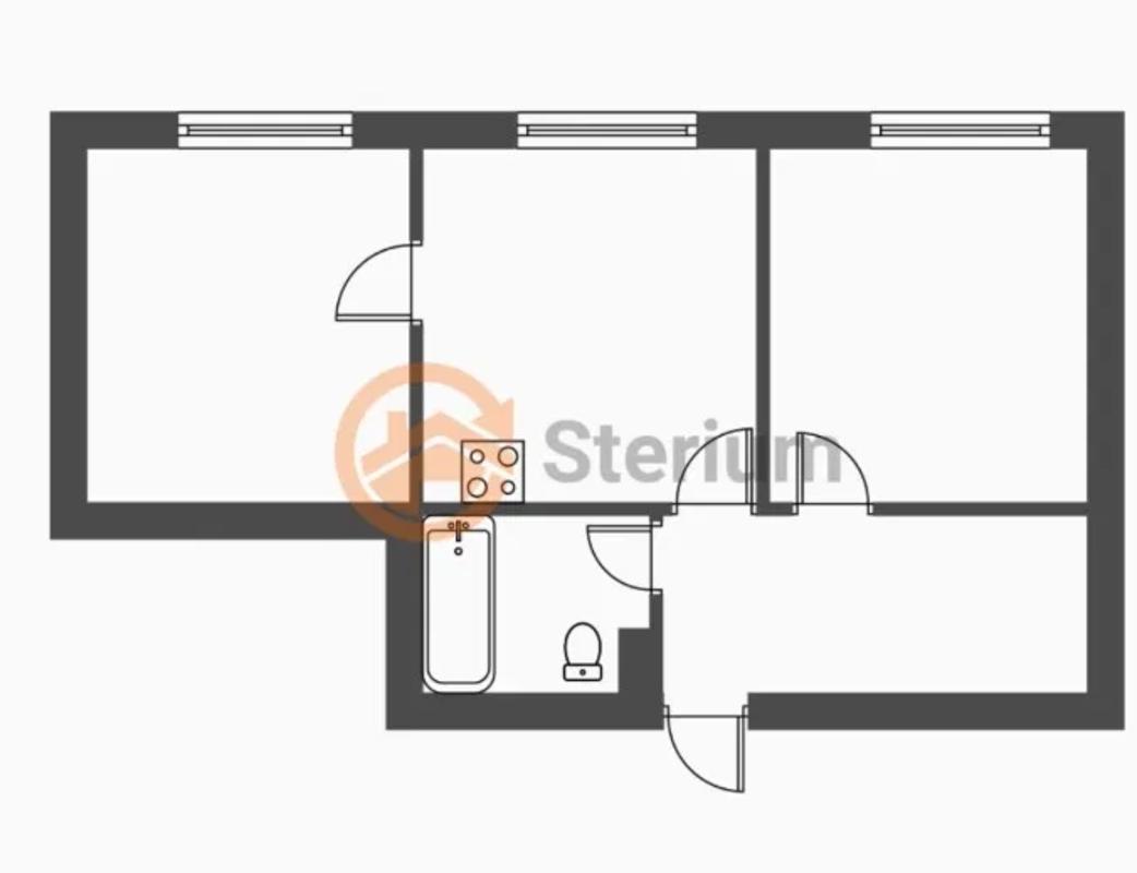2 комнатная квартира на Академической