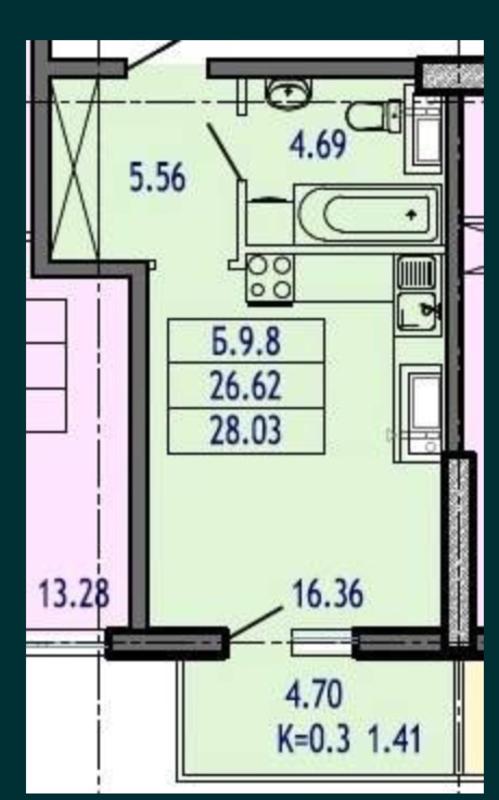 1 комнатная кватира в ЖК Акрополь