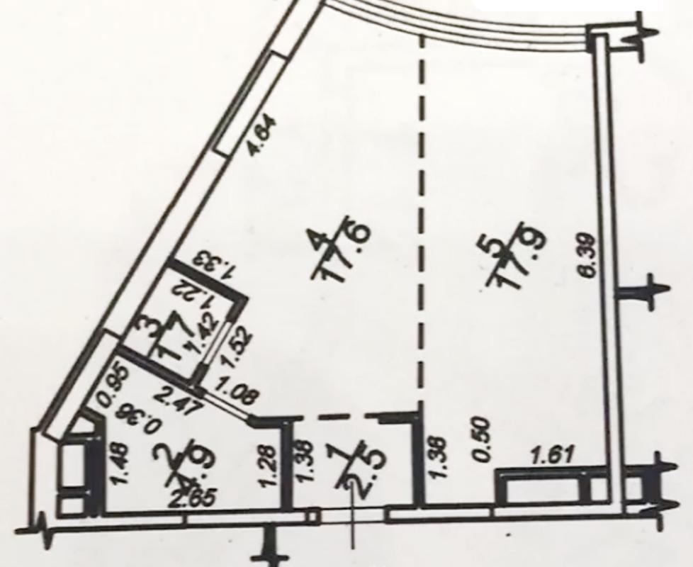 1-комнатная квартира в 44 Жемчужине на Каманина с видом на море.
