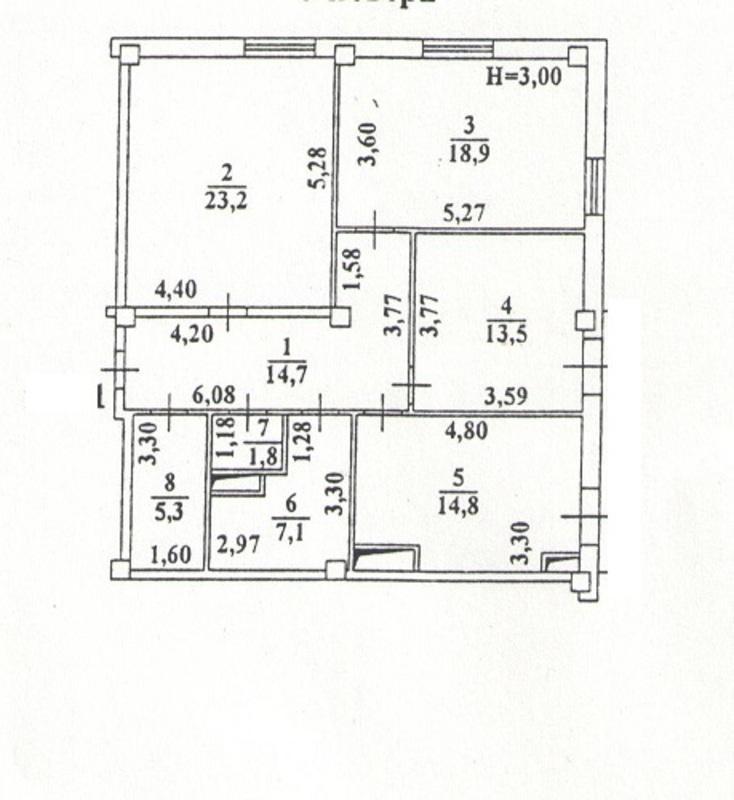 3х комнатная квартира на 9 ст.Б.Фонтана