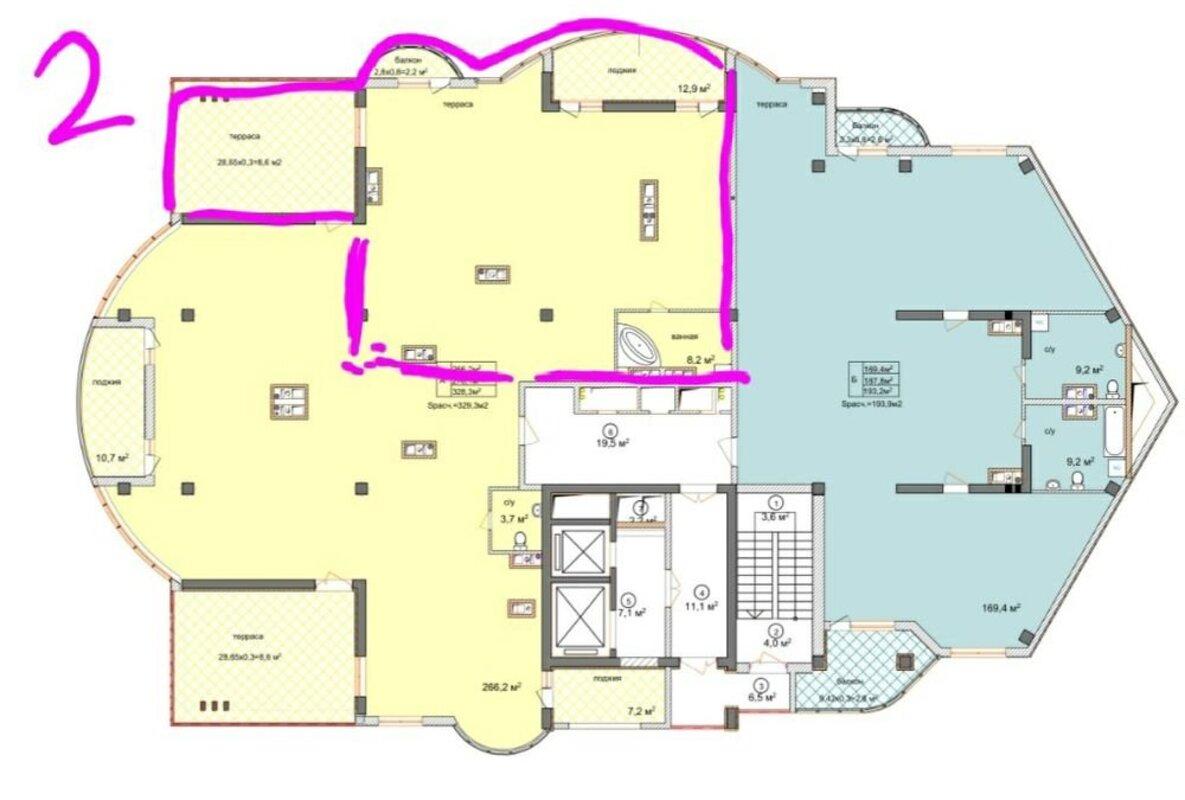 Квартира-пентхаус в ЖК «Аквамарин» у самого моря