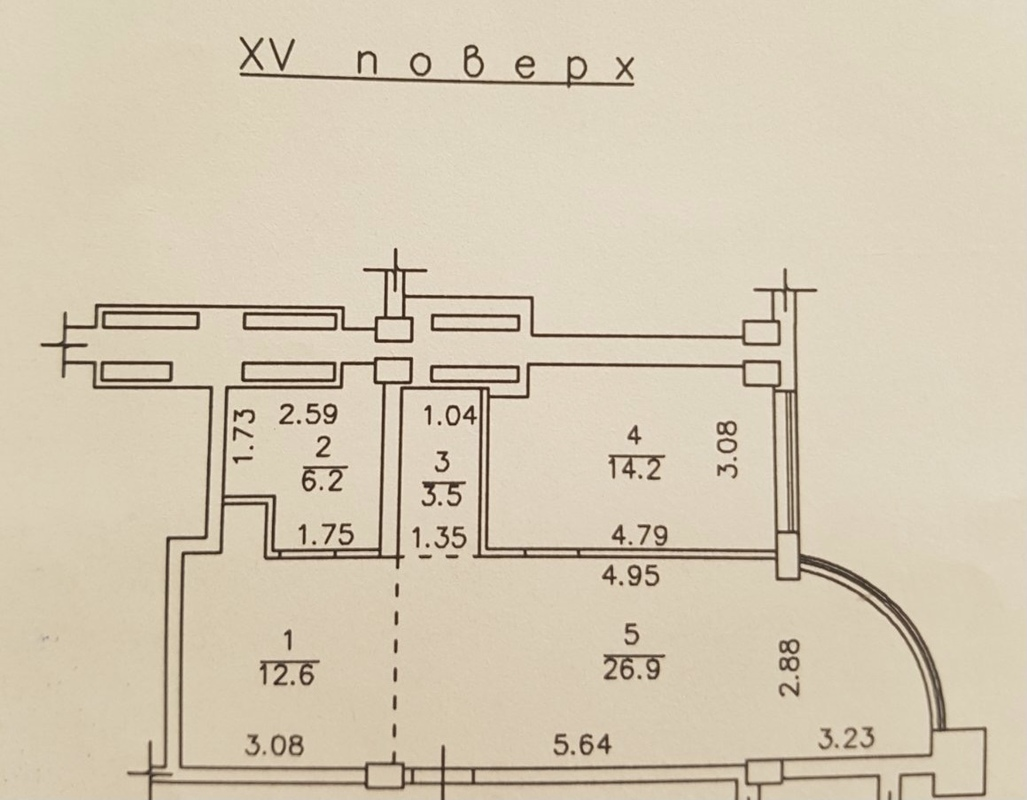 Кухня-гостиная и спальня ЖК Армейский