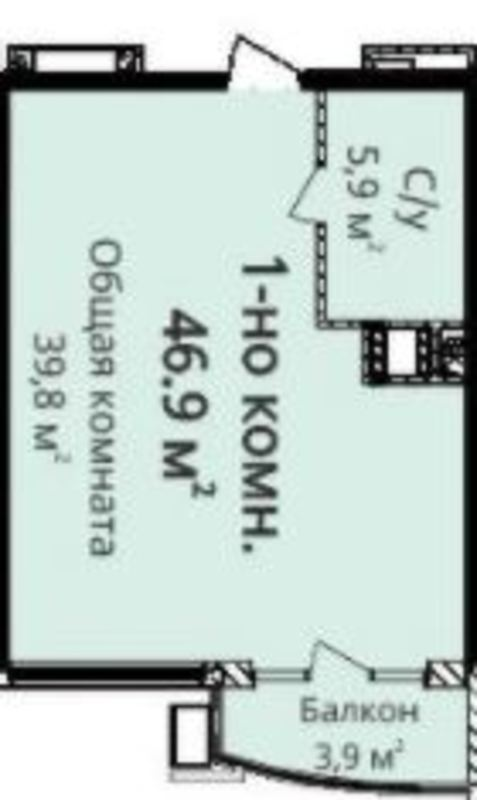 1-комнатная квартира в ЖК 4 Созона