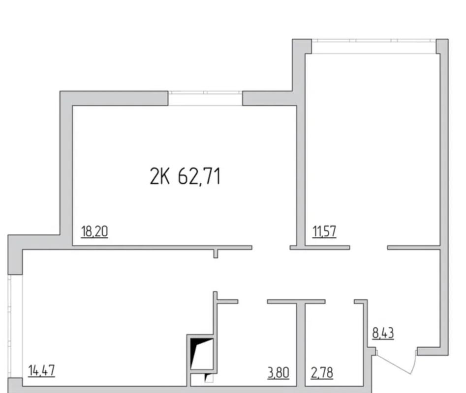 2-комнатная квартира в 51 Жемчужине
