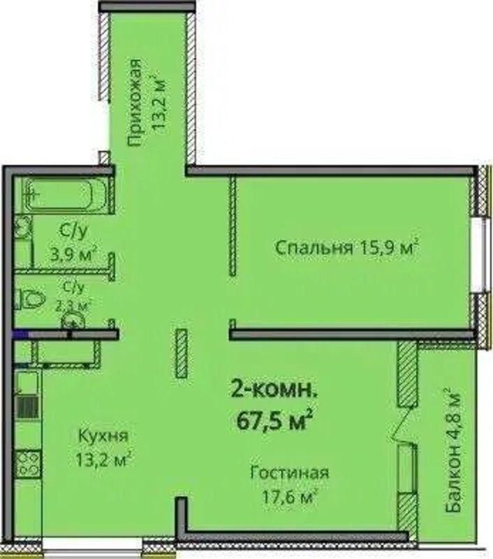 2-комнатная квартира в ЖК Альтаир 3