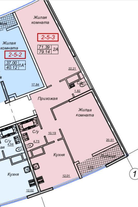 2-комнатная квартира в ЖК 26 жемчужина