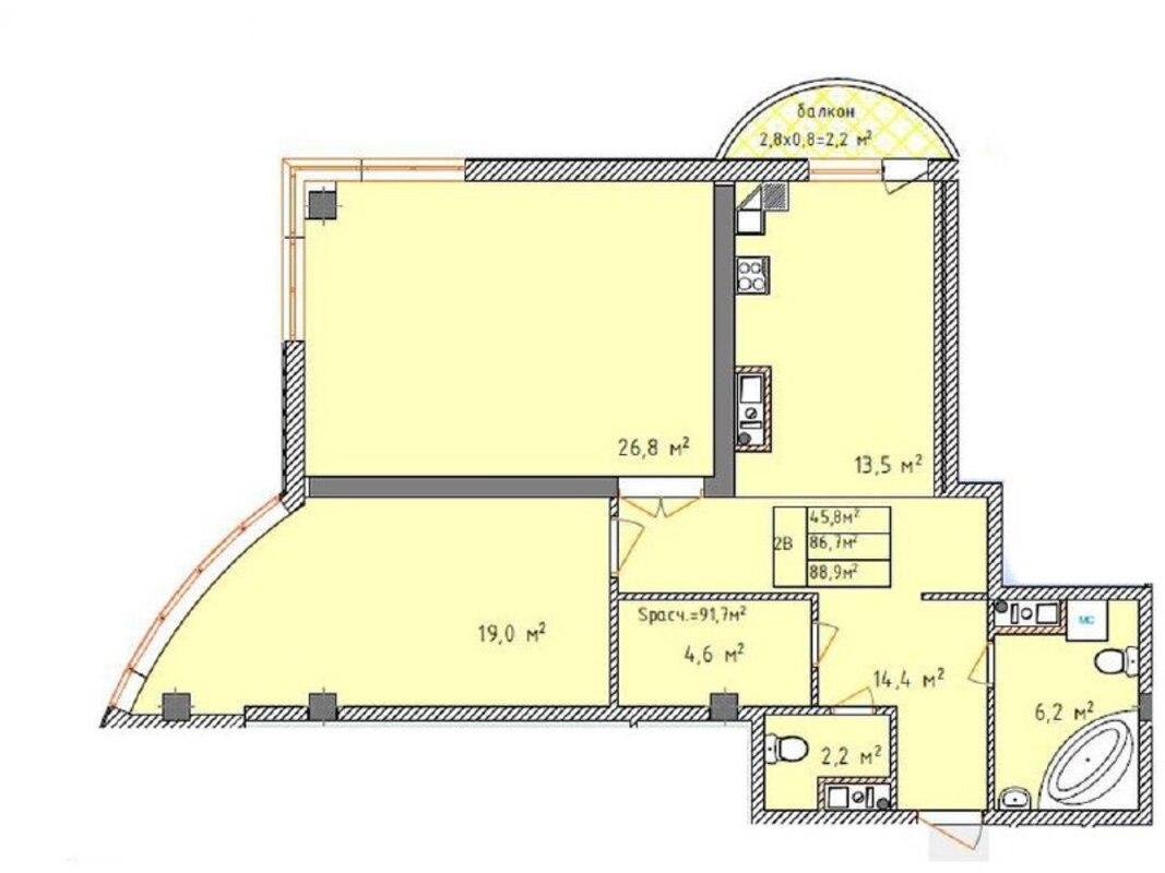 3 комнатная квартира в Аквамарине
