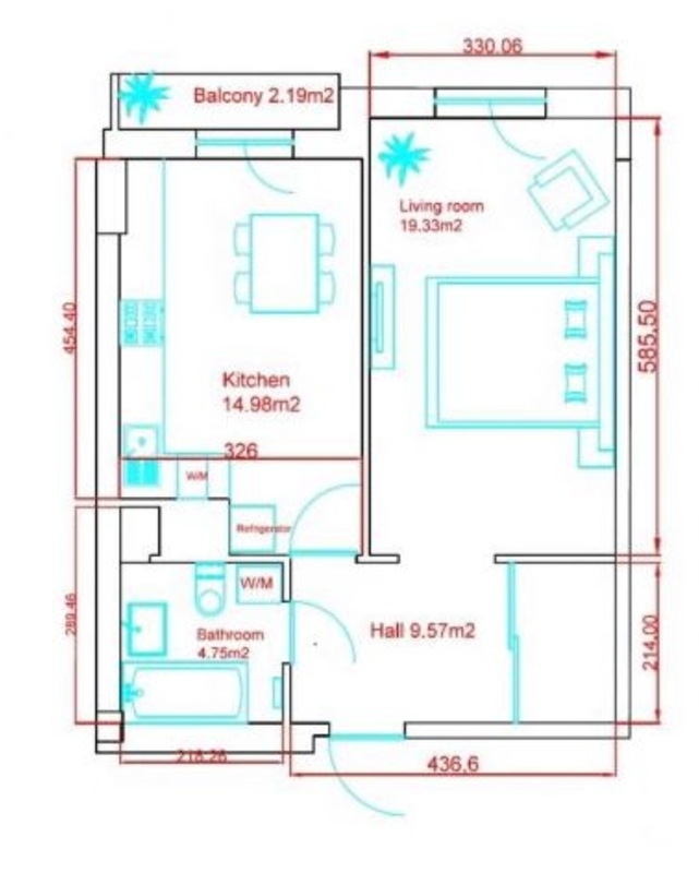 1 комнатная квартира возле Музкомедии